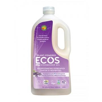 Натуральный гель ECOS W для мытья посуды в посудомоечной машине Лаванда 1138 мл (47 стирок)